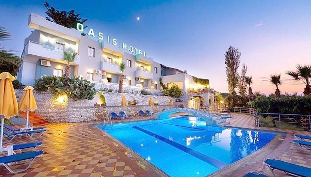 Pavasario poilsis Kretos saloje: 2★+ viešbutis Oasis su pusryčiais ir vakarienėmis tik už 409€